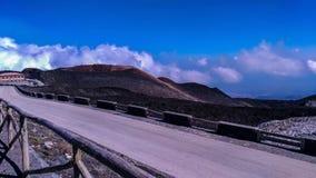 Etna τοποθετεί το τοπίο Σικελία Στοκ Φωτογραφίες