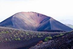 Etna. Trekking on Etna volcano in Sicily Stock Photo