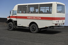 Etna, All-wheel Drive Tourist Bus Stock Photography