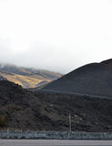 Etna - ancient craters Stock Image