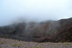 Etna - ancient craters Royalty Free Stock Photos