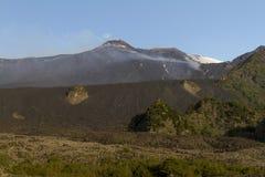 Etna Bove Valley Imagenes de archivo