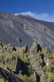 Etna - Bove Valley dikes Stock Image