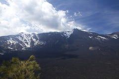 Etna caldera arkivbilder