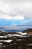 Etna and Catania Royalty Free Stock Photo
