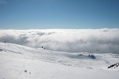 Etna covered by snow - Sicily Royalty Free Stock Photo