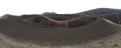 Etna crater. Royalty Free Stock Photo
