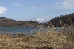 Etna dal lago Immagini Stock Libere da Diritti