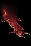 Etna eruption stock photography