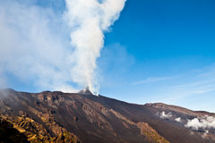 Etna eruption Royalty Free Stock Images