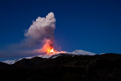 Etna eruption Royalty Free Stock Photography