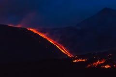 Etna Eruption fotografia stock