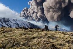 Etna Eruption fotografie stock
