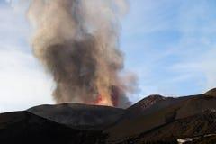 Etna Eruption fotografia stock libera da diritti