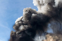 Etna eruption April 2012 Royalty Free Stock Photos