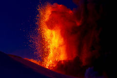 Eruption etna 2013 Stock Photos