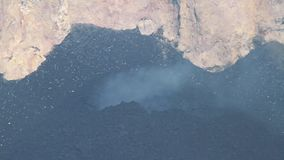 Etna eruption. Explosive activity of Strombolian type inside the crater `Bocca Nuova` of Mount Etna stock footage