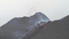 Etna eruption in July 2014 stock video