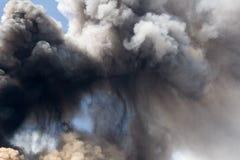 Etna eruzione aprile 2012 Fotografie Stock Libere da Diritti