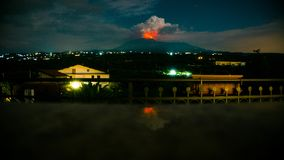 Etna is on fire royalty free stock photography