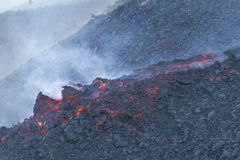 Etna, fluxo de lava Imagem de Stock Royalty Free