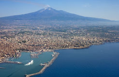 Etna From Air Royalty Free Stock Photo