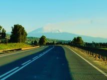 Etna imbiancata zdjęcie stock