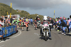 Etna, Italy - May 08, 2017. 100th Giro d`Italia, Stage 4 Royalty Free Stock Photography