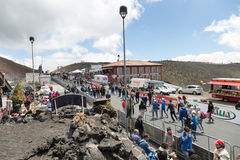 Etna, Italy - May 08, 2017. 100th Giro d`Italia, Stage 4 Stock Photography