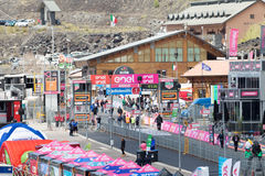 Etna, Italy - May 08, 2017. 100th Giro d`Italia, Stage 4 Stock Images