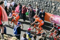 Etna, Italy - May 08, 2017. 100th Giro d`Italia, Stage 4 Royalty Free Stock Photo