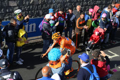 Etna, Italy - May 08, 2017. 100th Giro d`Italia, Stage 4 Royalty Free Stock Image