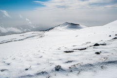 Etna krater Royaltyfria Bilder