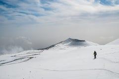 Etna krater Fotografering för Bildbyråer