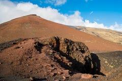 Etna krater Arkivbilder