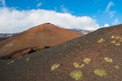 Etna krater Arkivbild