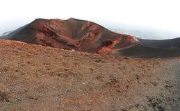 Etna krater Fotografia Stock