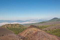 Etna landscape in a blue sky Royalty Free Stock Image