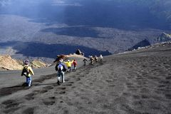 Etna Landscape: The Descent Royalty Free Stock Photo