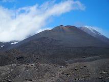 etna montering sicily Arkivfoton