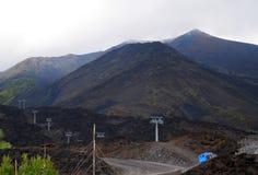 etna mt西西里岛 免版税库存照片