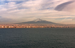 etna mt西西里岛 库存图片