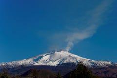 etna mt Сицилия Стоковая Фотография RF
