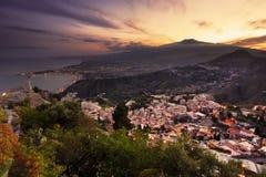etna mt Сицилия стоковое изображение