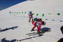 Etna Narciarski Alp - Światowy 2012 mistrzostwa Międzynarodowy trofeum Etna Fotografia Royalty Free