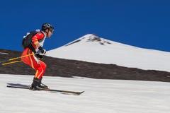 Etna Narciarski Alp - Światowy 2012 mistrzostwa Międzynarodowy trofeum Etna Fotografia Stock