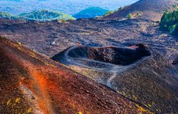 Etna national park landscape, Catania, Sicily. Royalty Free Stock Image