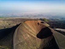 Etna, Powulkaniczny krajobraz Zdjęcie Royalty Free