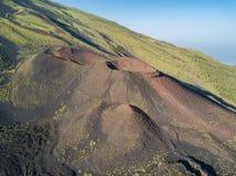Etna, Powulkaniczny krajobraz Zdjęcia Royalty Free