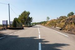 Etna Road Fotografia Stock Libera da Diritti